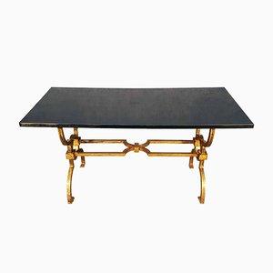 Table Basse en Fer Forgé par Jacques Adnet & Gilbert Poillerat, années 60