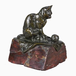 Antique Cat Sculpture by Emmanuel Fremiet