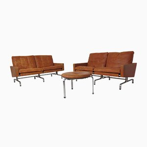 PK-31 & PK-33 Living Room Set by Poul Kjærholm for E. Kold Christensen, 1950s