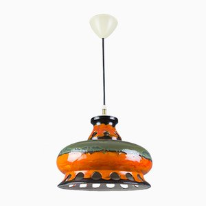 Lampe à Suspension Fat Lava Vintage en Céramique, Allemagne, années 60