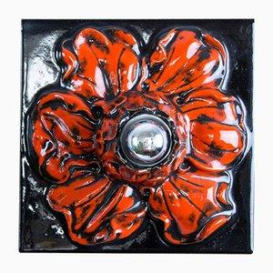 Applique Murale ou Plafonnier Vintage en Forme de Fleur en Céramique, Allemagne, années 60
