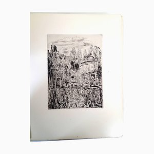 Montmartre's Party Radierung von Hermine David, 1927