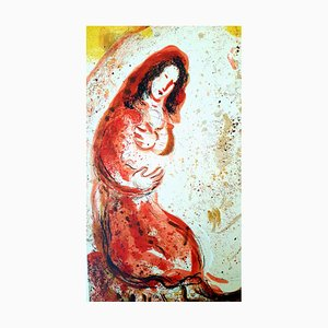 Rachel the Bible Original Lithographie von Marc Chagall, 1960