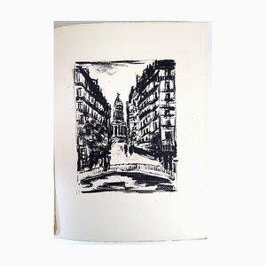 Aguafuerte Souflot Street de Paris de Maurice de Vlaminck, 1927