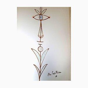 Marine Mountains Lithograph by Jean Cocteau, 1961