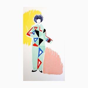 Estarcido multicolor de Sonia Delaunay, 1969