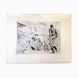 La Mêlée Etching by André Dunoyer De Segonzac, 1927