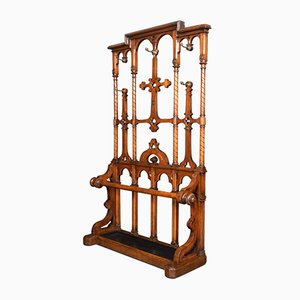 Antique 19th-Century Oak Hall Stand