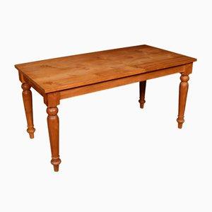Tavolo da fattoria antico in legno di ciliegio