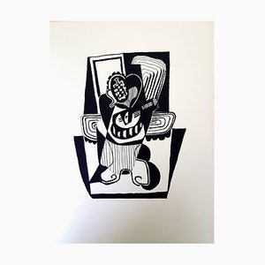 Helene Chez Archimede Wood Engraving by Pablo Picasso, 1955