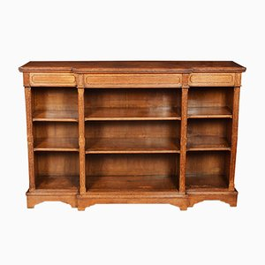 Antique Oak Breakfront Bookcase