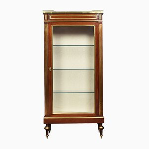 Antique French Walnut Vitrine Cabinet