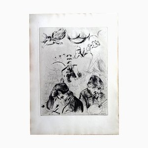 For the Lost Souls Etching by Marc Chagall, 1950