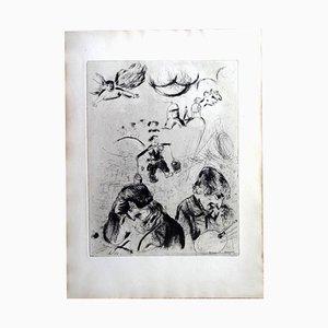 Gravure à l'Eau Forte the Lost Souls par Marc Chagall, 1950