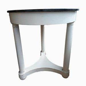 Mesa estilo imperio antigua con pedestal