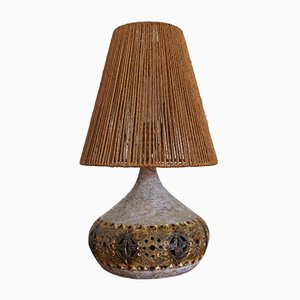 Vintage French Ceramic Table Lamp by Giarrusso Raphael for Accolay, 1960s
