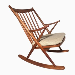 Danish Teak Rocking Chair by Frank Reenskaug from Bramin, 1960s