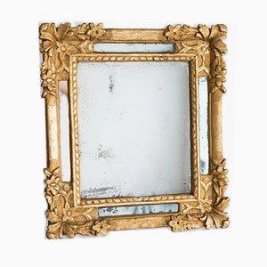 Antiker Regency Spiegel mit vergoldetem Holzrahmen
