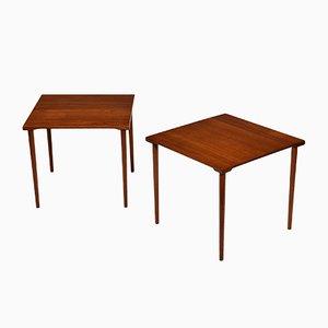 Tavolini in teak di France & Søn/France & Daverkosen, Danimarca, anni '60, set di 2