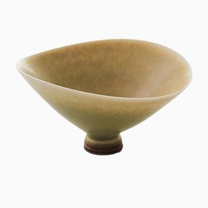 Mid-Century Yellow Ceramic Bowl by Berndt Friberg for Gustavsberg