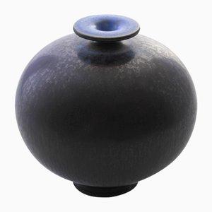 Mid-Century Swedish Blue Ceramic Vase by Berndt Friberg for Gustavsberg