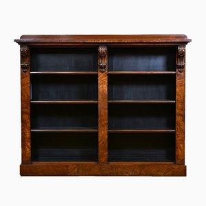 Librería victoriana antigua de nogal