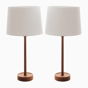 Scandinavian Table Lamps by Uno & Östen Kristiansson for Luxus, 1960s, Set of 2