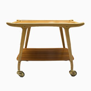 Scandinavian Wooden Trolley, 1960s