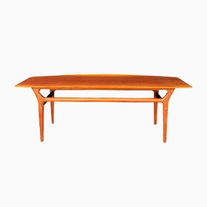 Mesa de centro danesa de teca de Jason Møbler, años 60