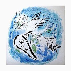 Affiche Le Vitrail et Les Peintres à Reims par Marc Chagall, 1969