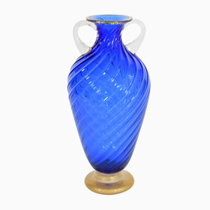 Blue Amphora Vase by Cenedese for Seguso, 1990s