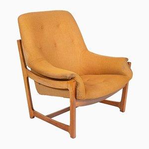 Senfgelber Vintage Sessel, 1960er