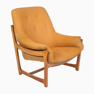 Vintage Mustard Yellow Lounge Chair, 1960s