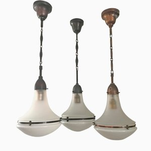 Lámpara colgante Luzette estilo modernista de Peter Behrens para AEG, años 20