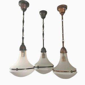 Lampe à Suspension Luzette Style Art Nouveau par Peter Behrens pour AEG, 1920s