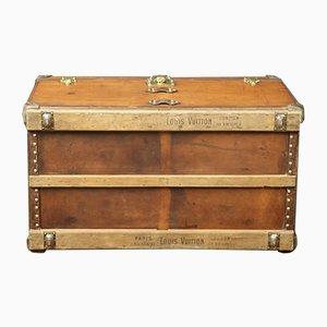 Baúl de cuero de Louis Vuitton, años 20
