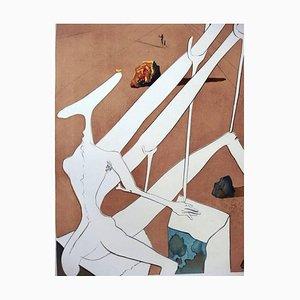 Gravure à l'Eau-Forte Dali Martian par Salvador Dali, 1974