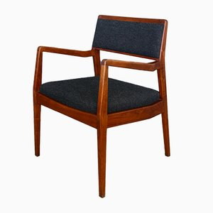 Mid-Century Walnut C140 Playboy Desk Chair by Jens Risom
