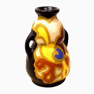 Petit Vase Art Déco Vintage en Céramique