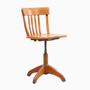 Mid-Century Beech Architect's Swivel Chair, 1950s