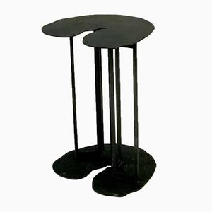 Vintage Brutalist French Sculptural Side Table, 1980s