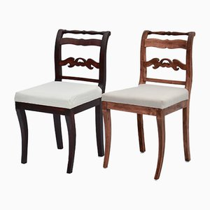 Antique Empire Swedish Dining Chairs, 1800s, Set of 2