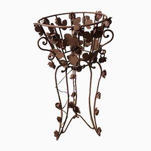Vaso da fiori in ferro battuto, anni '40