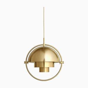 Lámpara colgante de latón con luz múltiple de Louis Weisdorf