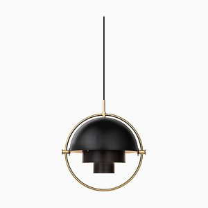 Brass Multi-Light Pendant by Louis Weisdorf