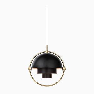 Brass Multi-Light Pendant by Louis Weisdorf