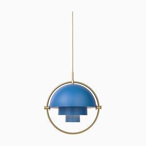 Lámpara colgante de latón con múltiples luces de Louis Weisdorf