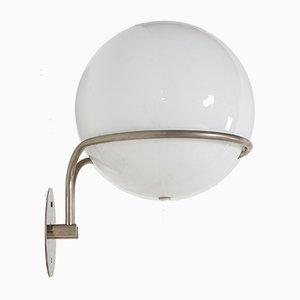 White Glass Wall Sconce by Tibor Újházi, 1970s