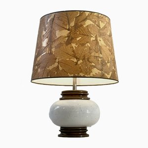 Vintage French Ceramic Table Lamp, 1970s