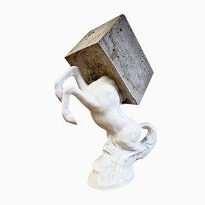 Vintage Pegasus Skulptur von Becker Schmitz